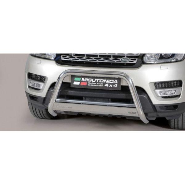 Misutonida Bull Bar Ø63mm inox srebrni za Land Rover Range Rover Sport 2014-2017 s EU certifikatom