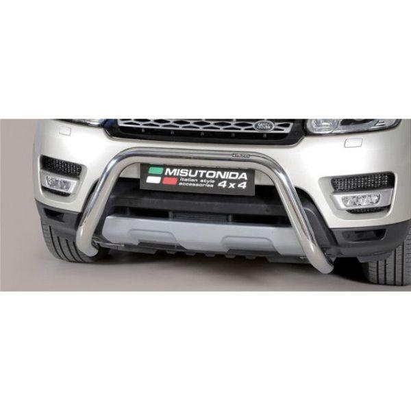 Misutonida Bull Bar Ø76mm inox srebrni za Land Rover Range Rover Sport 2014-2017 s EU certifikatom