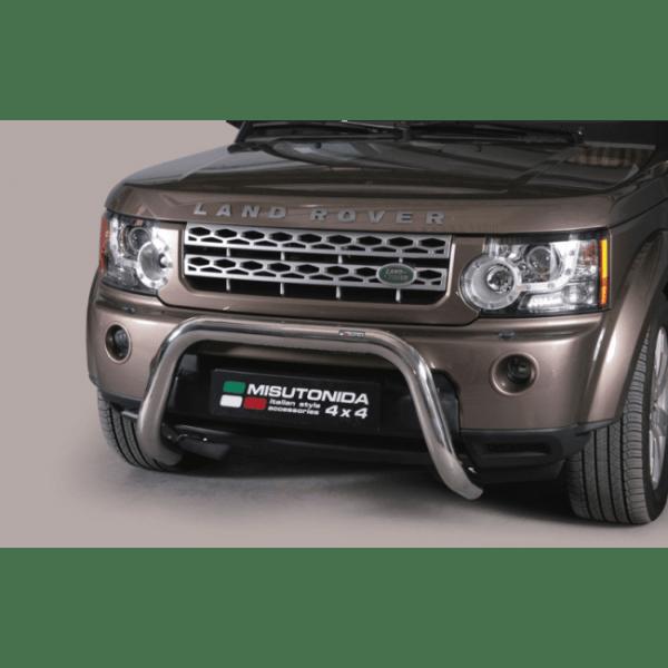 Misutonida Bull Bar Ø76mm inox srebrni za Land Rover Discovery 4 2012 s EU certifikatom