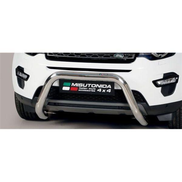 Misutonida Bull Bar Ø76mm inox srebrni za Land Rover Discovery Sport 5 2018 s EU certifikatom