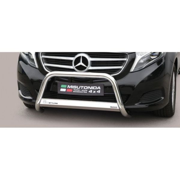 Misutonida Bull Bar Ø63mm inox srebrni za Mercedes Class V 2014 s EU certifikatom