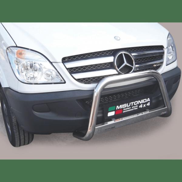 Misutonida Bull Bar Ø63mm inox srebrni za Mercedes Sprinter 2007-2012 s EU certifikatom