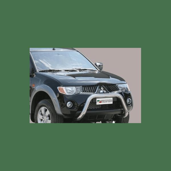 Misutonida Bull Bar Ø76mm inox srebrni za Mitsubishi L200 Double/Club Cab 2006-2009 s EU certifikatom
