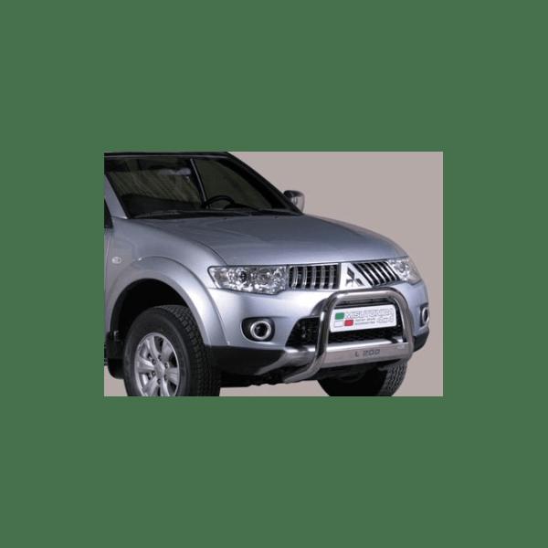 Misutonida Bull Bar Ø63mm inox srebrni za Mitsubishi L200 Club Cab 2010-2015 s EU certifikatom