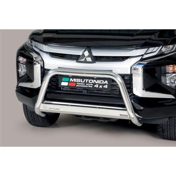 Misutonida Bull Bar Ø63mm inox srebrni za Mitsubishi L200 Double Cab 2019 s EU certifikatom