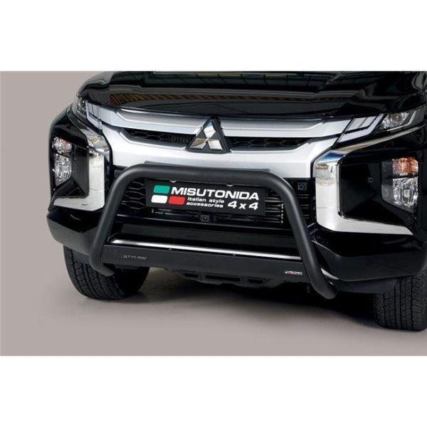 Misutonida Bull Bar Ø63mm crni za Mitsubishi L200 Double Cab 2019 s EU certifikatom