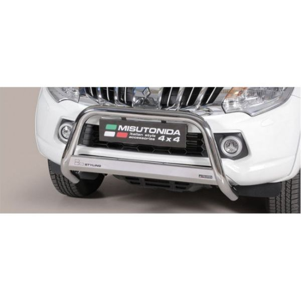 Misutonida Bull Bar Ø63mm inox srebrni za Mitsubishi L200 Club Cab 2015 - 2018 s EU certifikatom