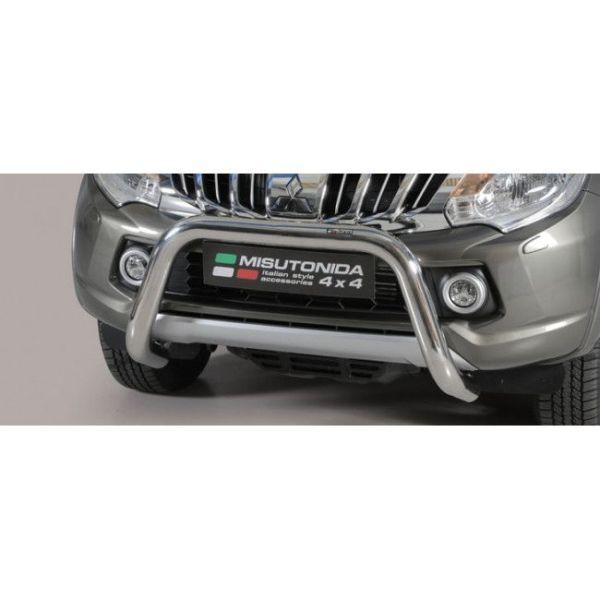 Misutonida Bull Bar Ø76mm inox srebrni za Mitsubishi L200 Club Cab 2015 - 2018 s EU certifikatom