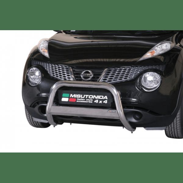 Misutonida Bull Bar Ø63mm inox srebrni za Nissan Juke 2010 - 2019 s EU certifikatom