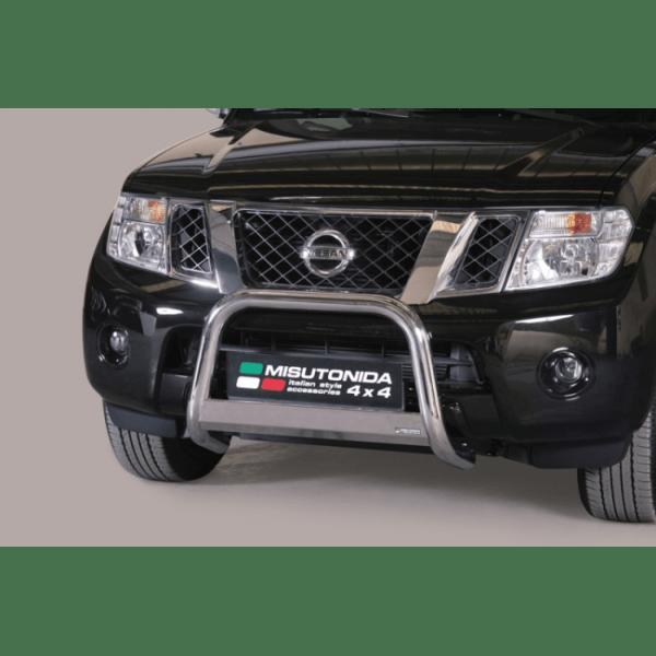 Misutonida Bull Bar Ø63mm inox srebrni za Nissan Pathfinder 2011+ s EU certifikatom