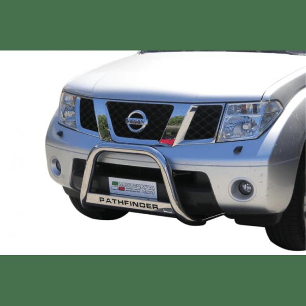 Misutonida Bull Bar Ø63mm inox srebrni za Nissan Pathfinder 2005 - 2011 s EU certifikatom