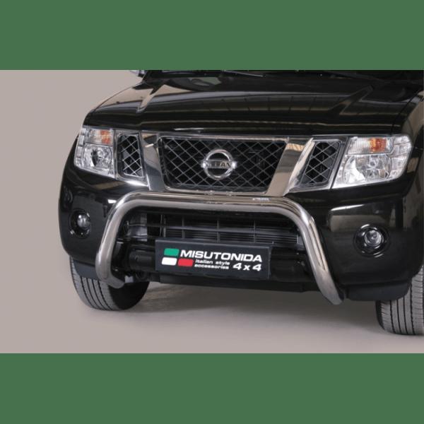 Misutonida Bull Bar Ø76mm inox srebrni za Nissan Pathfinder 2011+ s EU certifikatom