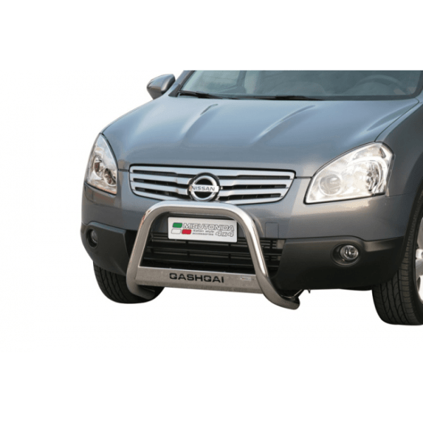 Misutonida Bull Bar Ø63mm inox srebrni za Nissan Qashqai +2 2008 - 2014 s EU certifikatom
