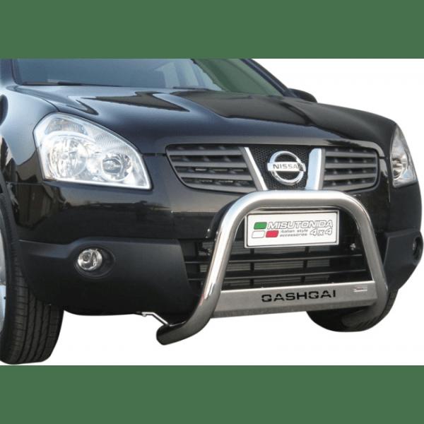Misutonida Bull Bar Ø63mm inox srebrni za Nissan Qashqai 2007 - 2010 s EU certifikatom