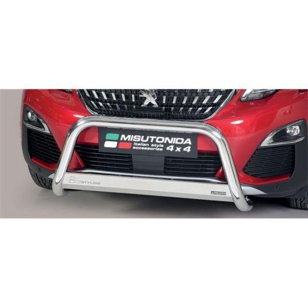 Misutonida Bull Bar Ø63 inox srebrni Peugeot 3008 2018+ s EU certifikatom