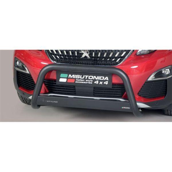 Misutonida Bull Bar Ø63mm crni za Peugeot 3008 2018+ s EU certifikatom