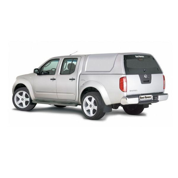RoadRanger RH2 standard tvrdi pokrov/hardtop/canopy srebrni (Nevada Silver KLO) za pickup Nissan Navara D40 double cab 2005-2015 bez bočnih prozora