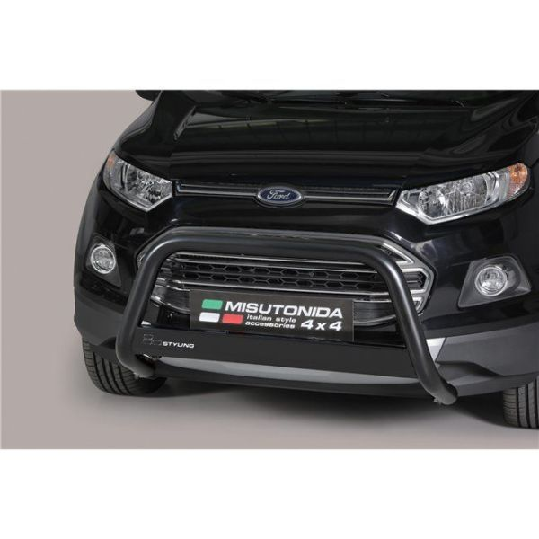 Misutonida Bull Bar Ø63mm inox crni za Ford Ecosport 2014-2017 s EU certifikatom