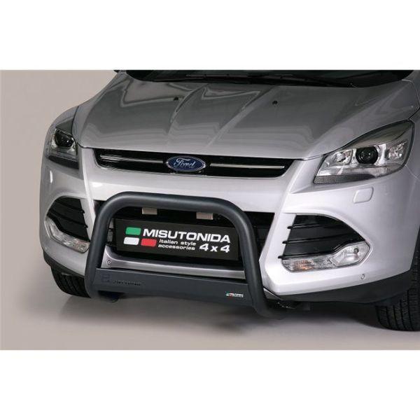 Misutonida Bull Bar Ø63mm inox crni za Ford Kuga 2013-2016 s EU certifikatom