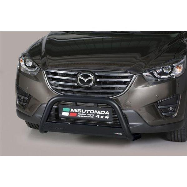 Misutonida Bull Bar Ø63mm inox crni za Mazda Cx5 2015-2016 s EU certifikatom