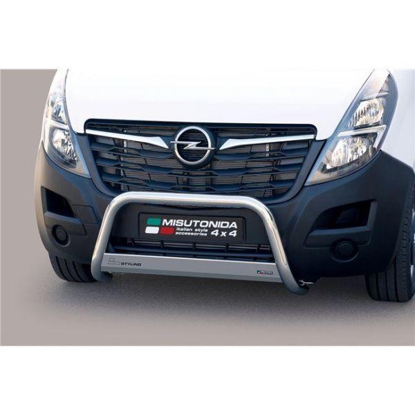 Misutonida Bull Bar Ø63 mm inox srebrni za Opel Movano L3 2018 s EU certifikatom