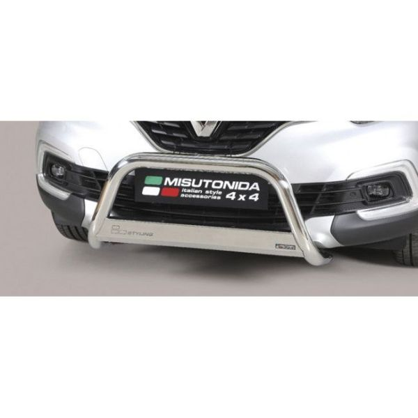 Misutonida Bull Bar Ø63mm inox srebrni za Renault Captur 2018-2019 s EU certifikatom