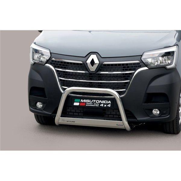 Misutonida Bull Bar Ø63mm inox srebrni za Renault Master 2019 s EU certifikatom