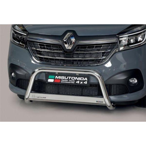 Misutonida Bull Bar Ø63mm inox srebrni za Renault Trafic L1, L2 2014-2018 i L1, L2 2019 s EU certifikatom