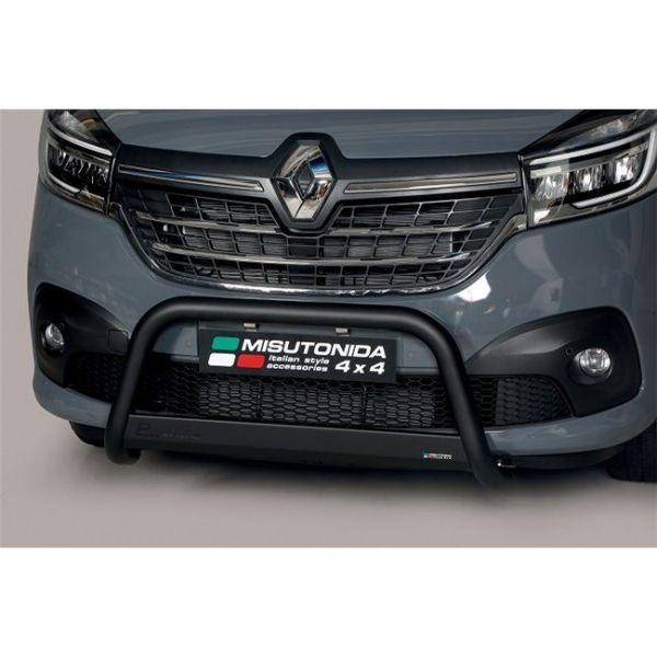 Misutonida Bull Bar Ø63mm inox crni za Renault Trafic L1, L2 2014-2018 i L1, L2 2019 s EU certifikatom