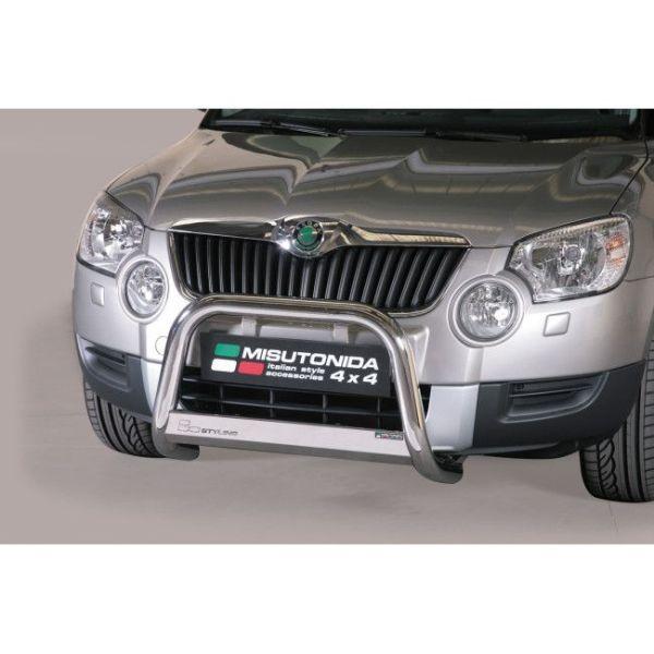 Misutonida Bull Bar Ø63mm inox srebrni za Škoda Yeti 2010-2013 s EU certifikatom