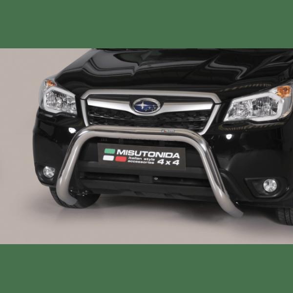 Misutonida Bull Bar Ø76mm inox srebrni za Subaru Forester 2013-2015 s EU certifikatom