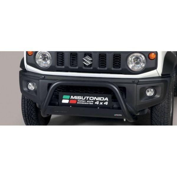 Misutonida Bull Bar Ø63mm inox crni za Suzuki Jimny 2018 s EU certifikatom