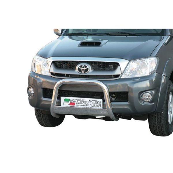 Misutonida Bull Bar Ø63mm inox srebrni za Toyota Hi Lux Double Cab, Extra Cab 2006-2011 s EU certifikatom