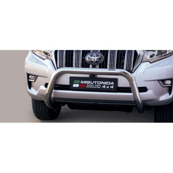 Misutonida Bull Bar Ø76mm inox srebrni za Toyota Land Cruiser 3 vrata 2018 s EU certifikatom