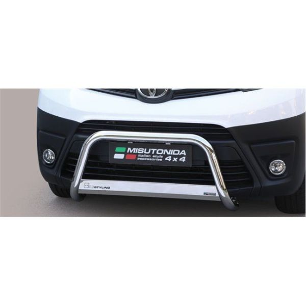 Misutonida Bull Bar Ø63mm inox srebrni za Toyota Proace, Proace Verso SWB/MWB/LWB 2006-2019 s EU certifikatom