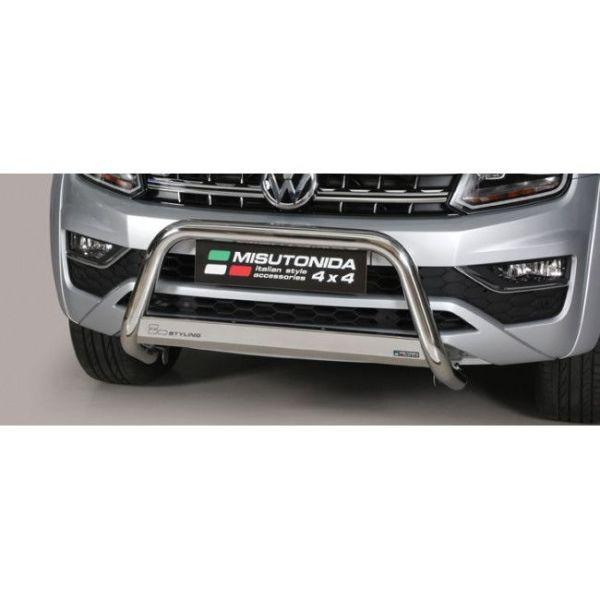 Misutonida Bull Bar Ø63mm inox srebrni za Volkswagen Amarok V6, Highline 2010+ s EU certifikatom
