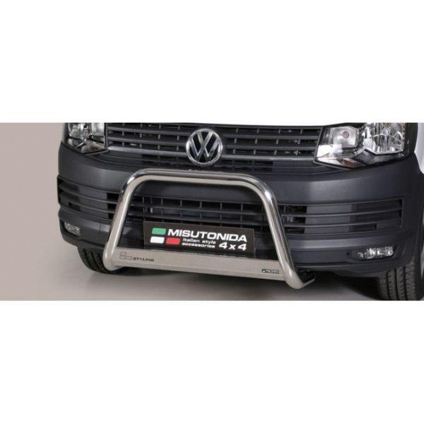 Misutonida Bull Bar Ø63mm inox srebrni za Volkswagen T6 2015 s EU certifikatom
