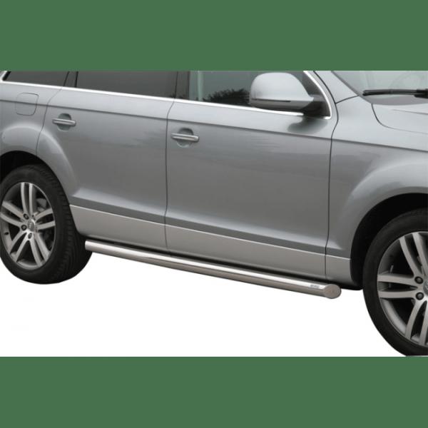 Misutonida bočne stepenice inox srebrne za Audi Q7 06 2006+ s TÜV certifikatom