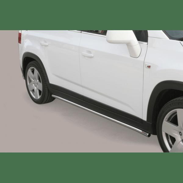 Misutonida bočne stepenice inox srebrne za Chevrolet Orlando s TÜV certifikatom