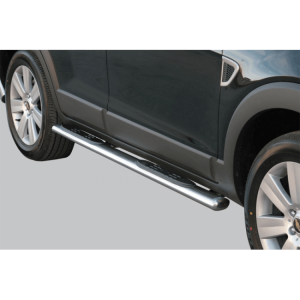 Misutonida bočne stepenice inox srebrne za Chevrolet Captiva 2006-2010 s TÜV certifikatom