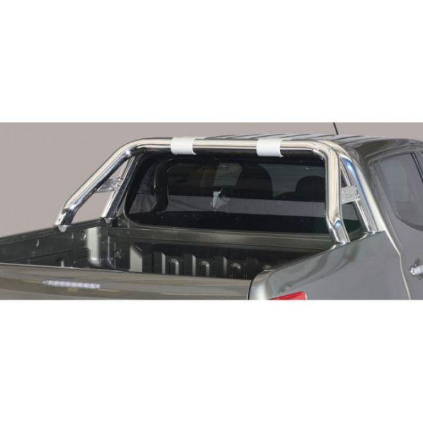 Misutonida Roll Bar Ø76mm inox srebrni za pickup Fiat Fullback 2016+ double cab i extended cab s TÜV certifikatom