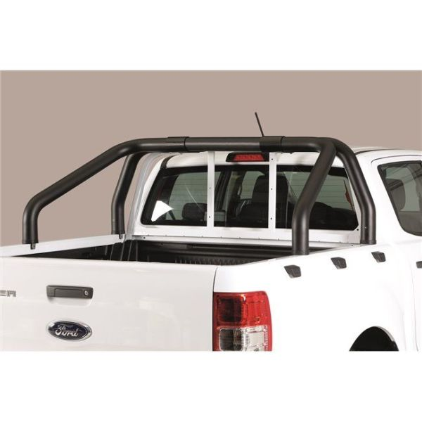 Misutonida Roll Bar Ø76mm inox crni za pickup Ford Ranger 2019+ double cab s TÜV certifikatom