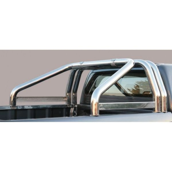 Misutonida Roll Bar Ø76mm inox srebrni za pickup Ford Ranger 2016-2018 double cab s TÜV certifikatom