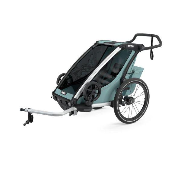 Thule Chariot Cross svjetloplava (alaska) sportska dječja kolica i prikolica za bicikl za jedno dijete (4u1)