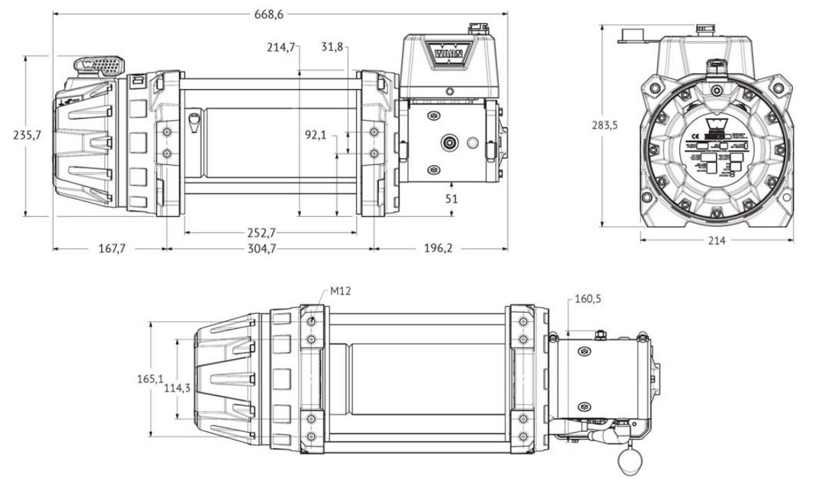 "Vitlo Warn Series 9, generacija 2, 12V, 4.082kg, 10"" bubanj, bez sajle i vodilice"
