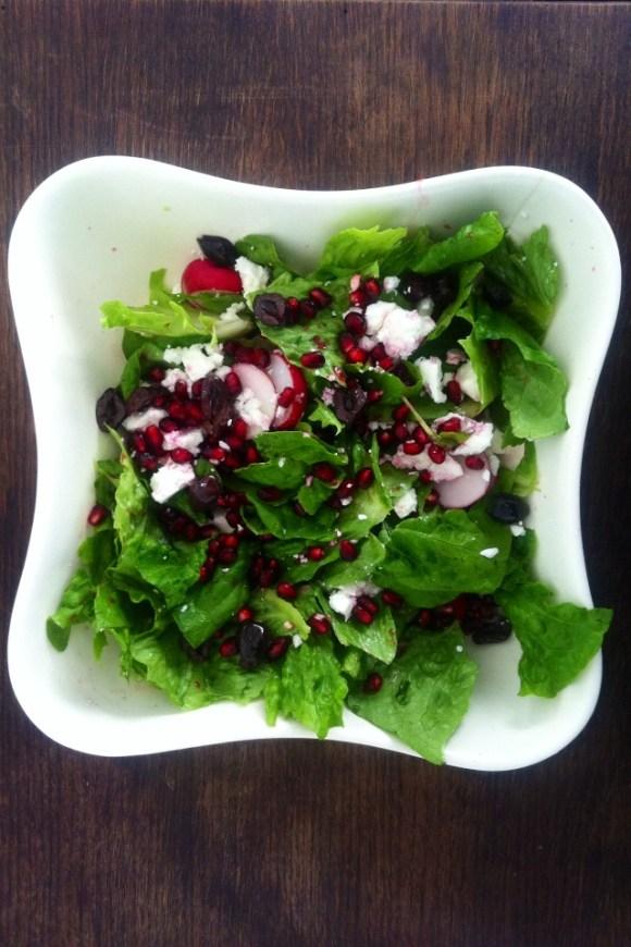 salade radijs en feta