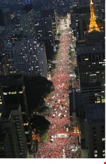Manifestação do dia 18 de março de 2016, com a presença de mais de 400 mil pessoas.