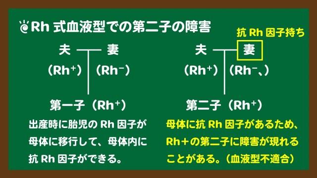 スライド10:Rh式血液型での血液型不適合