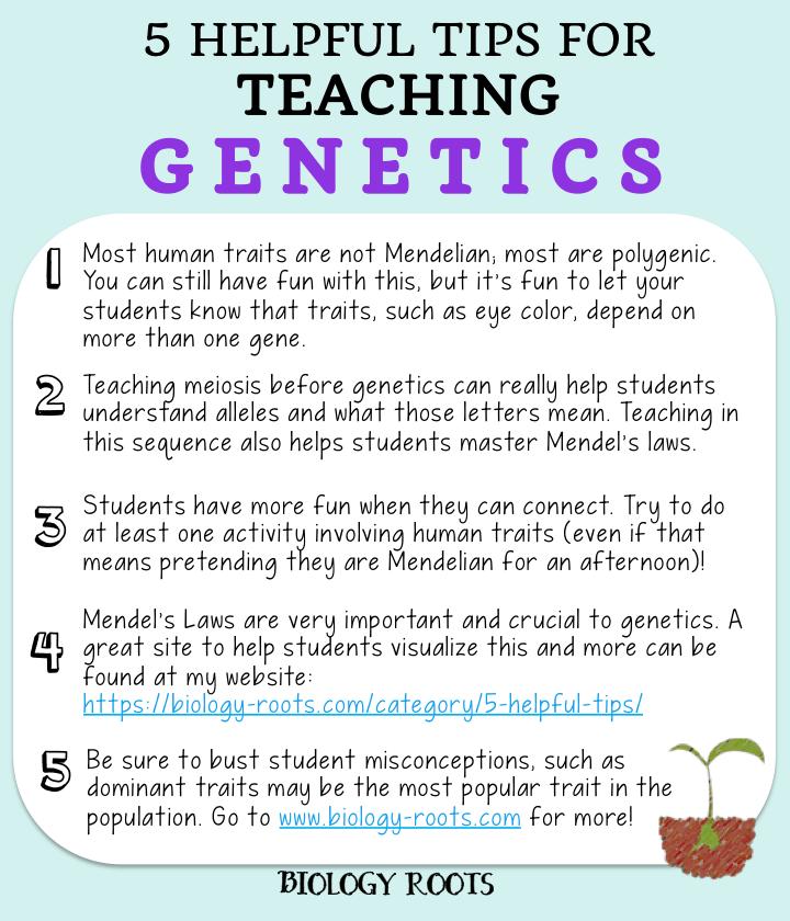 5 Helpful Hints for Teaching Genetics