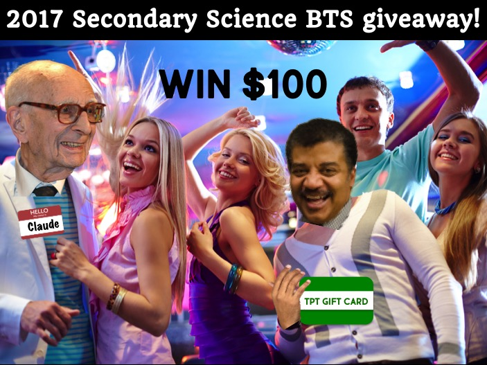 Secondary Science Back to School Giveaway!